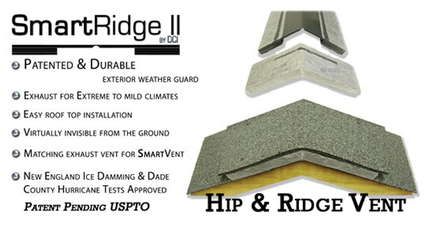 SmartRidge II double-sided ridge vent
