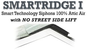 SmartRidge One siphons 100% attic air